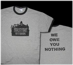 Housecore T-Shirt Grey Ringer